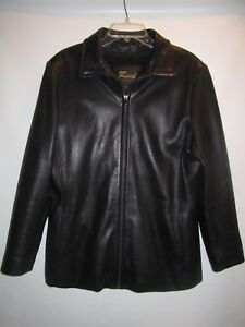 With Front L Women's Leather Reed Out Size Jacket Liner Zip 0xAwqqY5