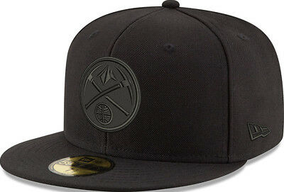 New Era Denver Nuggets Black On Black Cap 59 Fifty Fitted Special Limited Edition-mostra Il Titolo Originale