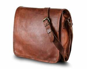 Men/'s Leather Messenger Bag Shoulder Business Briefcase Laptop Bags Handmade