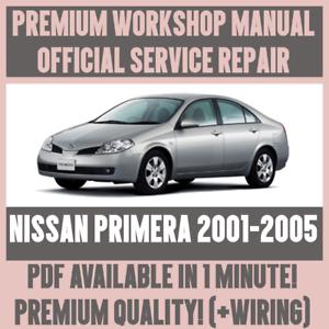 workshop manual service repair guide for nissan primera 2001 2005 rh ebay co uk nissan primera p10 service manual nissan primera p12 service repair manual download