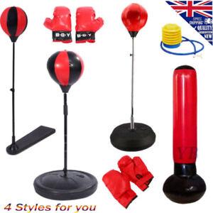 70 160cm Adjustable Height Punch Bag Ball Gloves Kit