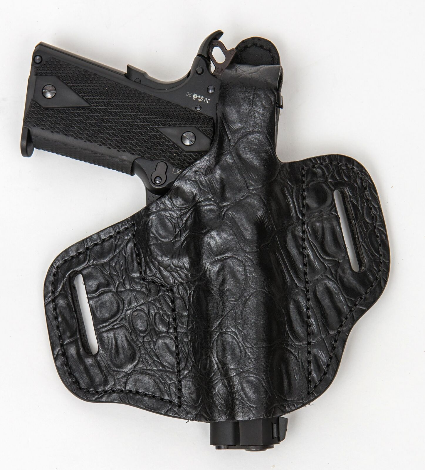 On Duty OWB Conceal RH LH OWB Duty Leder Gun Holster For Remington R51 w/ CT Laserguard 8506c7