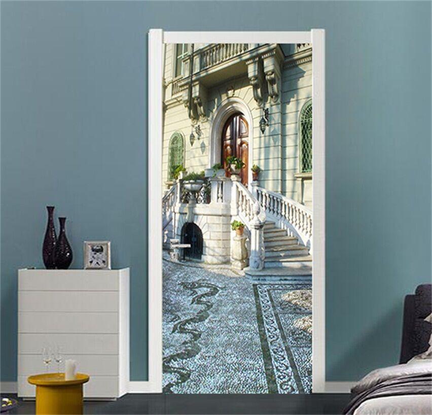 3D Haus Straße 46 Tür Mauer Wandgemälde Foto Wandaufkleber AJ WALL DE Lemon