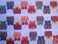 CANDY APPLES RIBBON -5 YARDS-7/8 INCH GROSGRAIN (really cute ribbon)