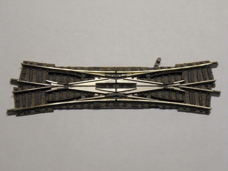 9185 Doppelte Kreuzungsweiche 15° rechtskreuzend 111 mm X485X FLEISCHMANN N