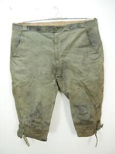 Glattleder Lederhose speckig für Jäger, Arbeit und Freizeit grau Kniebund Gr.56