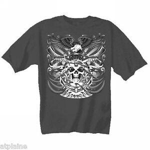 T-Shirt-MC-SKULL-ANCHOR-Taille-L-Style-BIKER-HARLEY