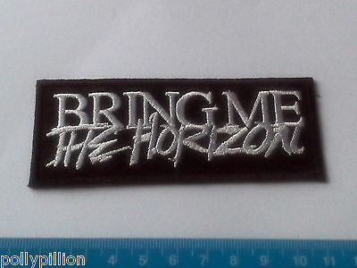 PUNK ROCK HEAVY METAL MUSIC SEW ON / IRON ON PATCH:- BRING ME THE HORIZON BLACK
