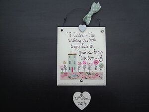 Image Is Loading Personalised New Home Gift Handmade Wooden Plaque House
