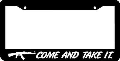 Molon Labe Come And Take It 3/% 2nd Amendment License Plate Frame Stix Version