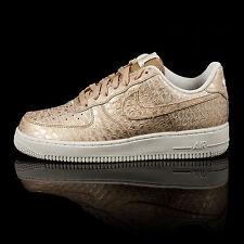 Nike Air Force 1 07 LV8 Rare Gold Snake Print Trainers UK 10 EUR 45 BARGAIN