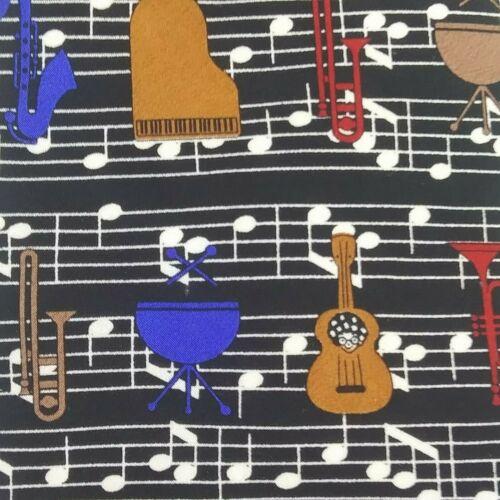 Musical Instruments Cummerbund and Tie