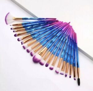 20 piezas brochas de maquillaje  20 piece unicorn makeup