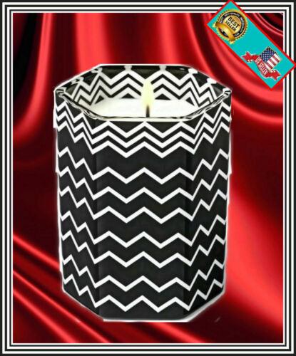 Amberwood Jasmine NIB Black and White Zig Zag Glass Jar MISSONI TARGET CANDLE