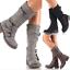 Womens-Zipper-Buckle-Mid-Calf-Boots-Vintage-Buckle-Sz35-43-Combat-Vintage-Shoes thumbnail 1