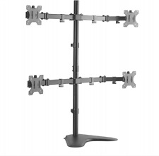 "Steel Double Joint LCD LED Monitor Vesa Desk Stand Mount Holds Upto 32"" Inches"