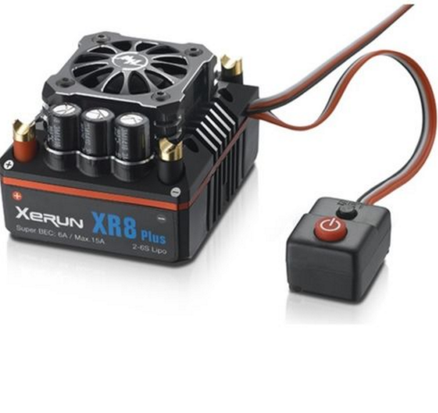 HWI30113300 Hobbywing XERUN XR8 Plus Competition 1 8 Sensorosso Brushless ESC