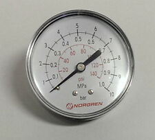• NORGREN 18-013-013 -NEW- Manometer Ø49mm dial, R1/8 - 0-10bar/MPA/psi  #GO