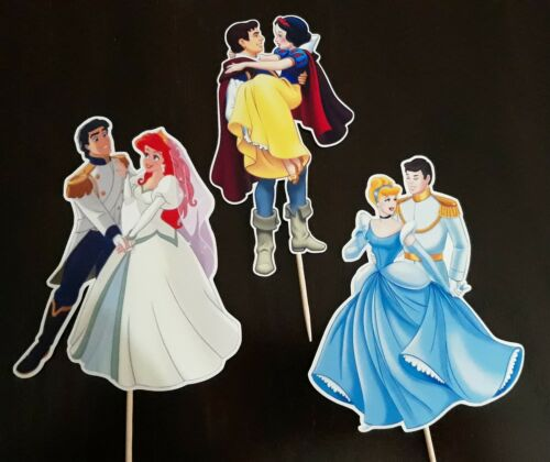 10pcs Disney Princesses and Prince Cupcake Topper