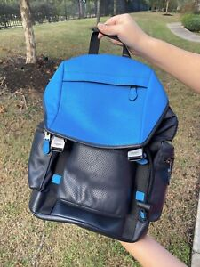 NWT-Coach-Men-039-s-Large-Backpack-In-Perforated-Azure-Blue-F72018