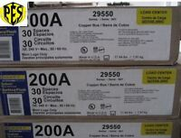 Price Dropnew Square D Qo330l200g Three Phase 200 Amp Mlo Panel W/s Cover