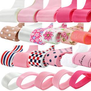 Lot-24yds-Grosgrain-Satin-Lace-Ribbon-DIY-Hair-Bow-Craft-Mixed-Pattern-Width