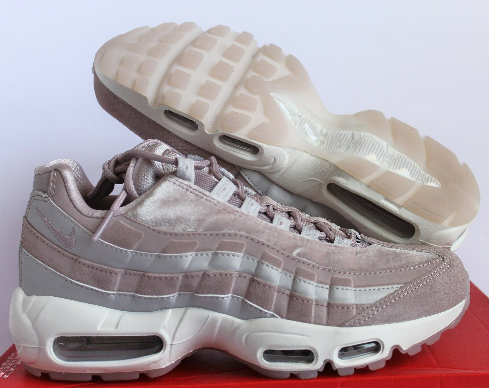 Nike Women Air Max 95 LX Particle Rose-White sz 9.5 [AA1103-600]