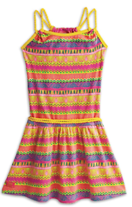 AMERICAN GIRL LEA CLARK Dress Girls Tropical Adventure Dress NWOT Size 10