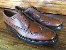 """Vintage Men's Florsheim """"Royal Imperial"""" V-Cleat Wing Tip Brown Shoe 10.5 B"""