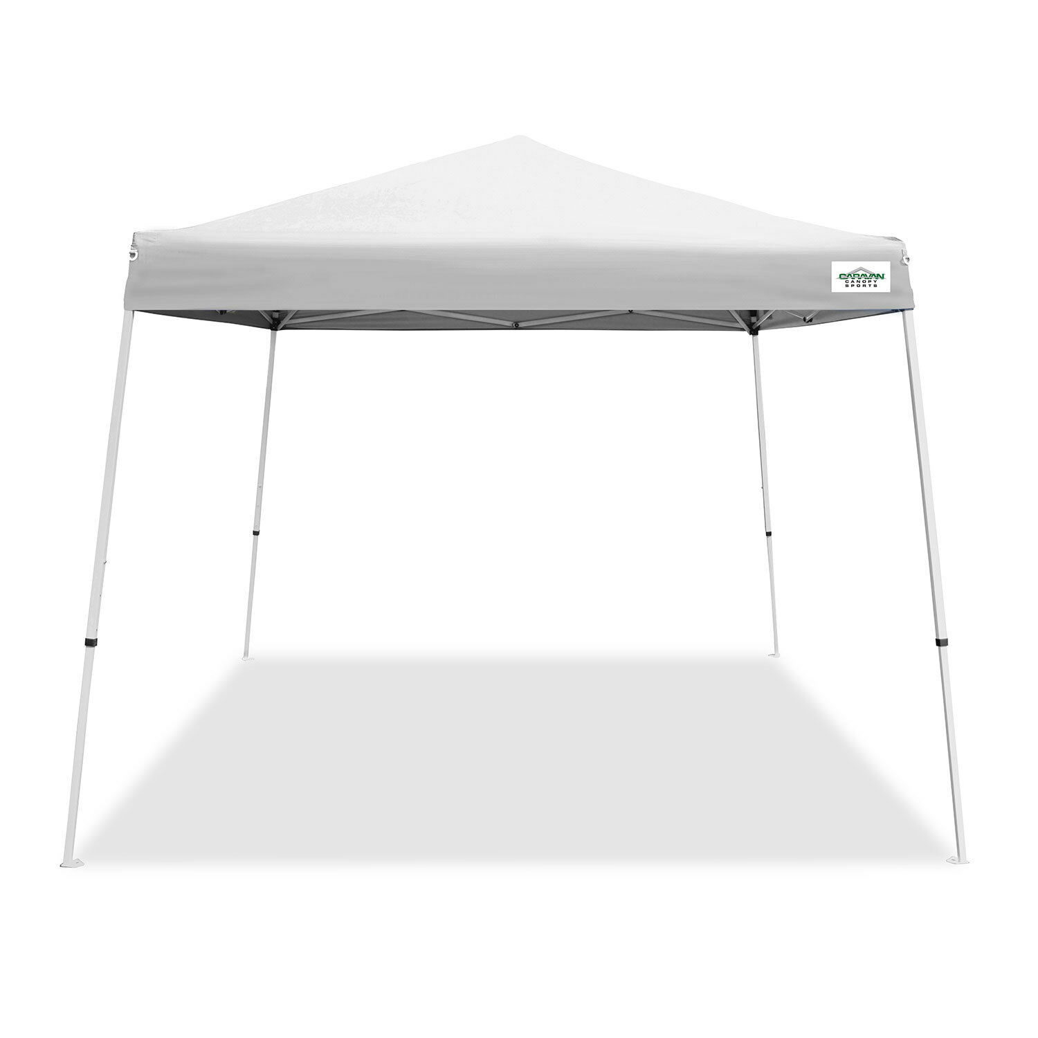 Caravan Canopy V Series 2 10' x 10' Entry Level Instant Angled Leg Instant Level Canopy, Weiß 6c88b2