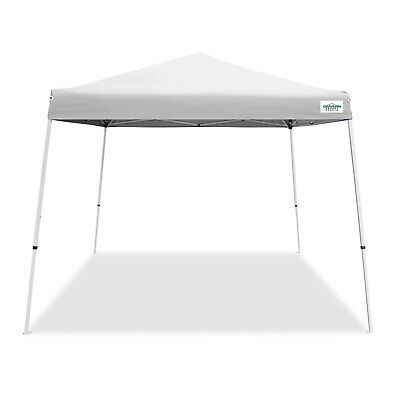 Caravan Canopy V Series 2 10' x 10' Entry Level Angled Leg Instant Canopy, White