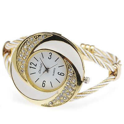 fashion women quartz watch crystal embed art case stainless wire luxury relogio
