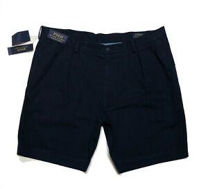 POLO-RALPH-LAUREN-pantaloncini-chino-da-uomo-Aviator-Navy-Classic-Fit-a-pieghe-40-034