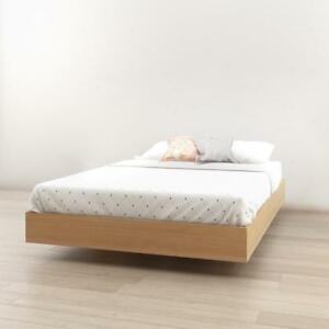 5798cd617b49 Image is loading Nexera-345405-Full-Size-Platform-Bed-Natural-Maple-