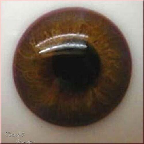 Baby Marrone occhi di vetro soffiato 18Mm