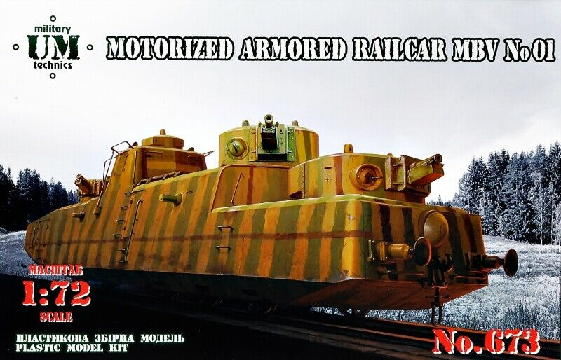 UM-MT 1 72 Motorized Armored Railcar
