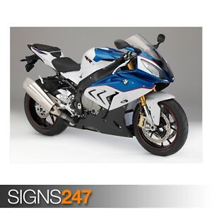 BMW-S1000RR-BLUE-AE178-Photo-Picture-Poster-Print-Art-A0-A1-A2-A3-A4