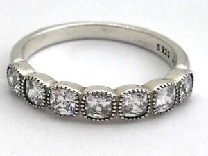 8d16226b8 Authentic Pandora Alluring Cushion Ring Sz 7.5, Clear CZ, 191019CZ ...