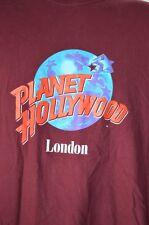 Planet Hollywood London Mens XL T-shirt Short Sleeve Crew Neck Maroon