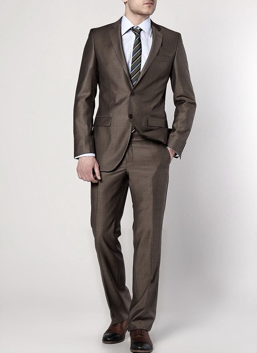 Keskin Herren Anzug 2 teilig Braun-Grau Top Qualität Umtauschrecht NEU gr 46  | Online Store  | Angemessener Preis  | Garantiere Qualität und Quantität
