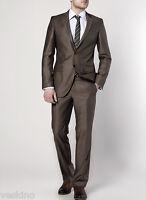 Keskin Herren Anzug 2 teilig Braun-Grau Top Qualität Umtauschrecht NEU gr 56