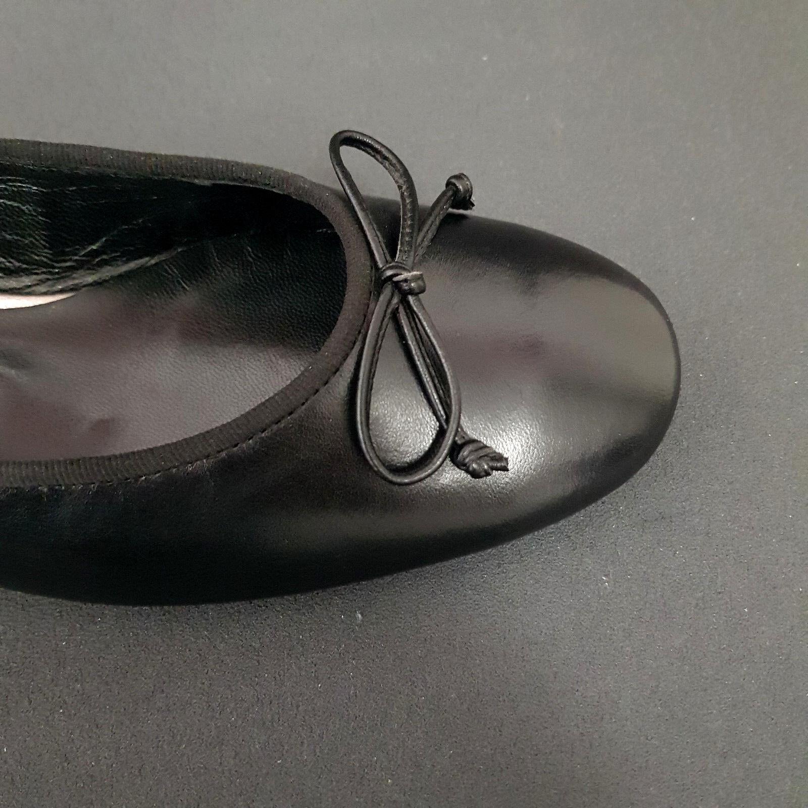 Paul Grün Damen Ballerinas NEU 3102 111 schwarz Leder mit Schleife NEU Ballerinas b030ae
