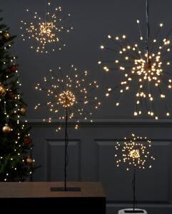 LED Firework Standstern Stehleuchte Hängestern schwarz silber Fensterdeko