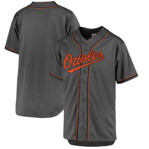 Baltimore-Orioles-MLB-Men-039-s-Charcoal-Fashion-Big-amp-Tall-Team-Jersey