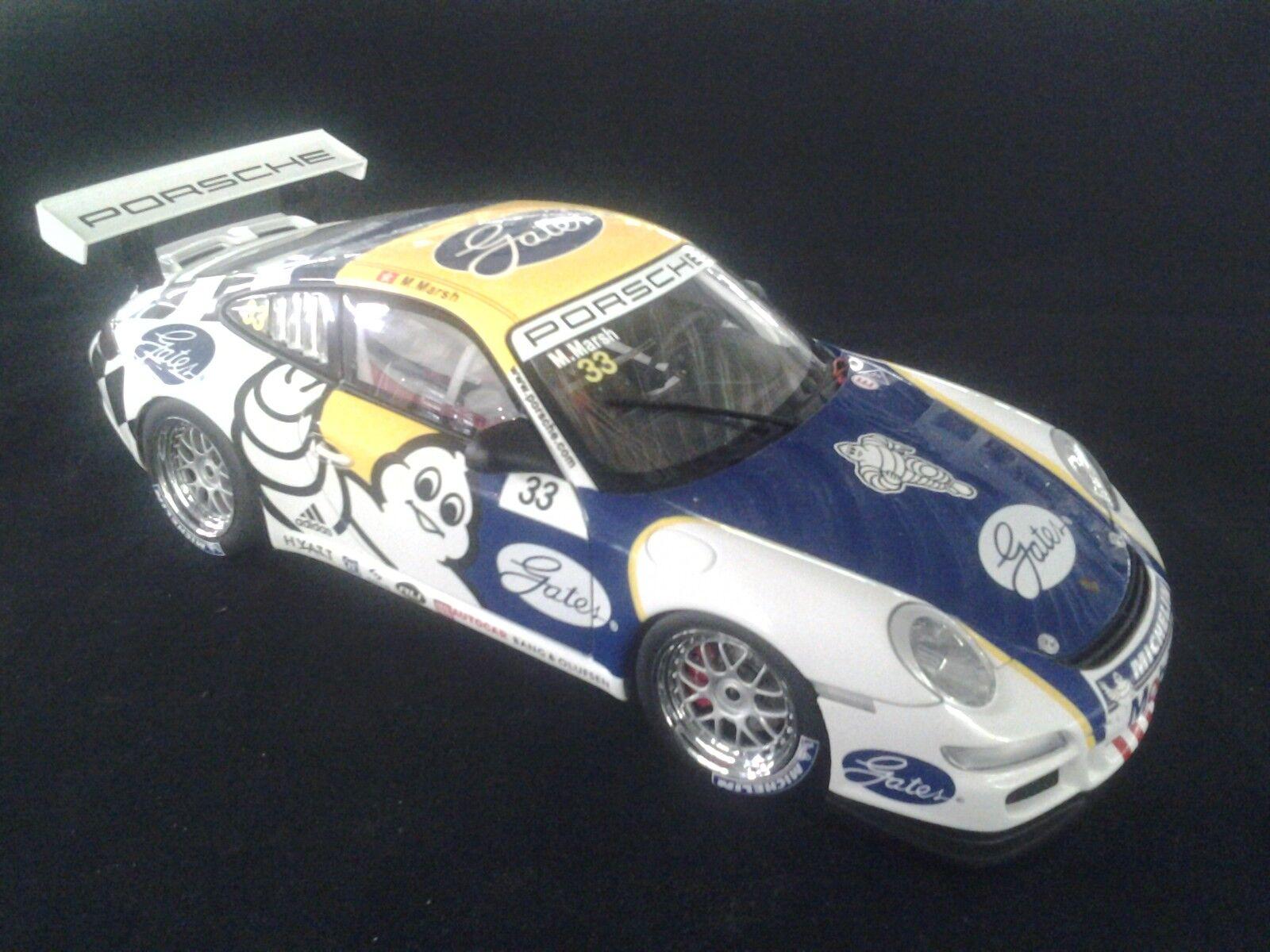 AutoArt Porsche 911 GT3 2006 1 18  33 M Marsh (USA) Carrera Cup PCCA (MCC)
