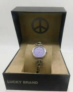 Lucky Brand Instalite Backlight Peace Sign Watch Brown ... |Lucky Brand Peace Watch