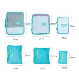 6-Stueck-Set-Gepaeck-Organizer-Koffer-Aufbewahrungsbeutel-Verpackung-Reisewuer-Y2N4