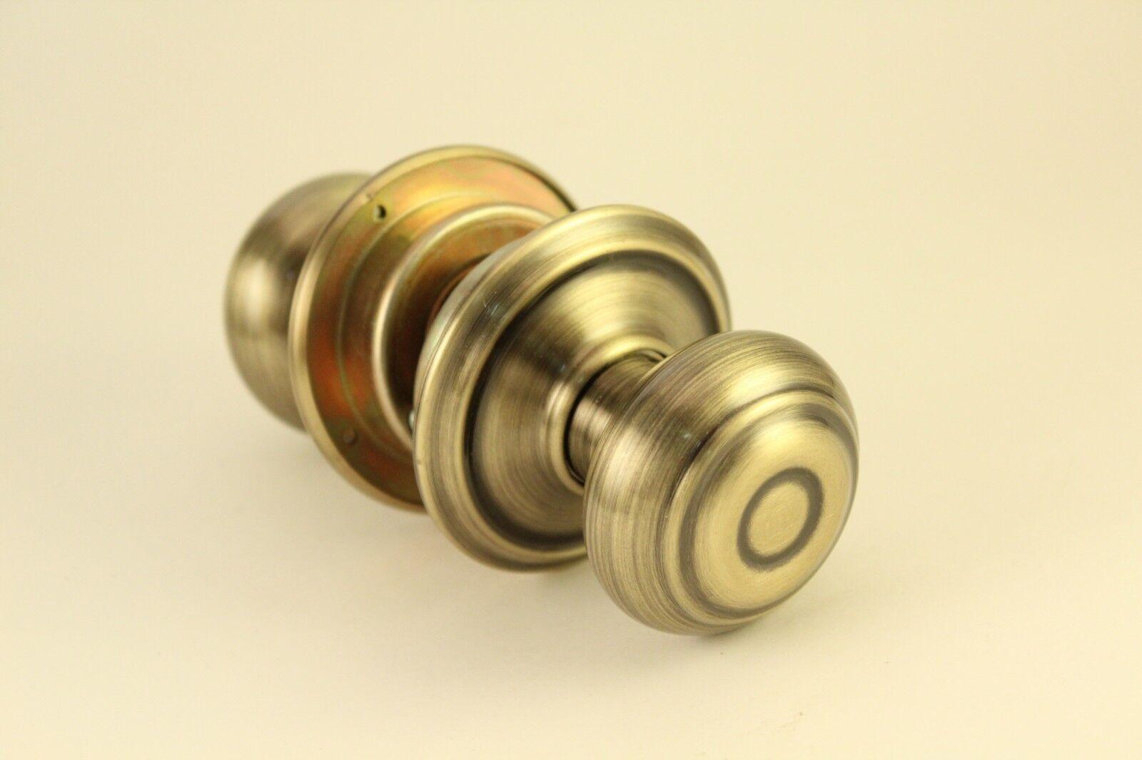 Schlage Antique Brass Georgian 609 F10SV Hall Closet Latch Door Knob Hardware