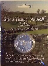 CIVIL WAR CSA CONFEDERATE GENERAL STONEWALL JACKSON SILER COLOR COIN 27176