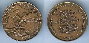 Collection Ici Médaille Souvenir - Fondeurs D'or Et D'argent Monnaie De Paris 1830 Fab Moderne GuéRir La Toux Et Faciliter L'Expectoration Et Soulager L'Enrouement